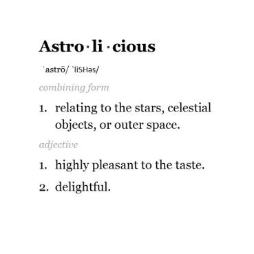 astrolicious definition