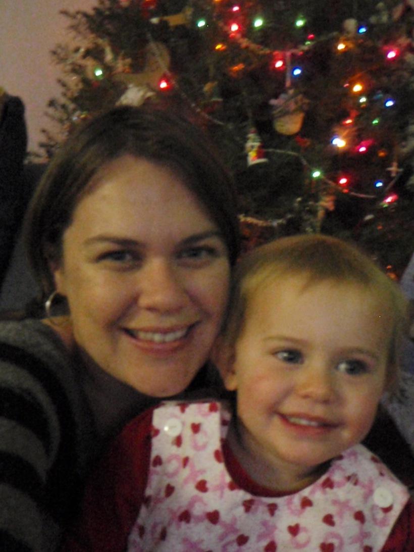 Single Handed Single Mom Holiday Photo